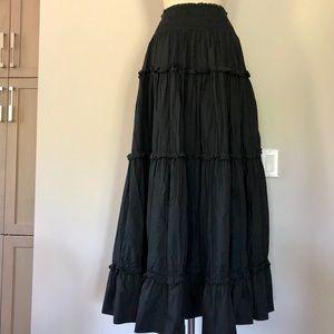 Ruffled peasant skirt